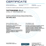 CERTIFICATO TUTTODIESEL S.r.l. ISO 9001 2015