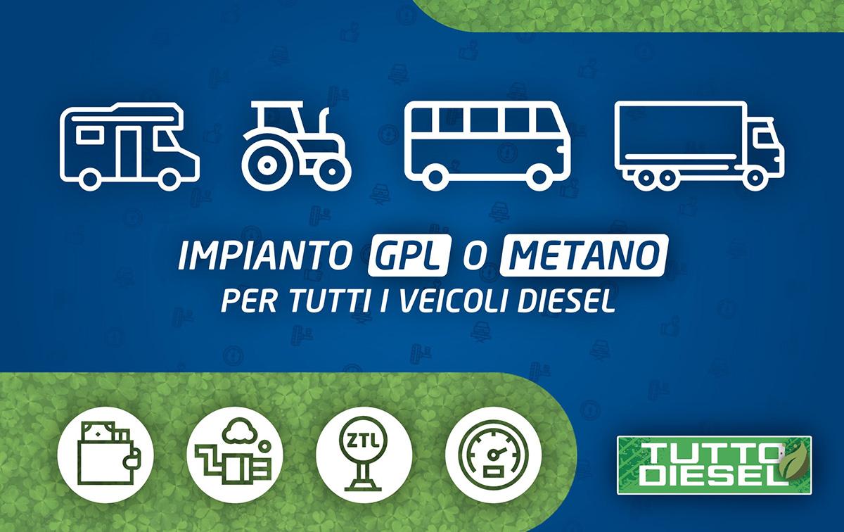 Impianto GPL e Metano su motori Diesel