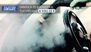 sanifica ed igienizza il tuo veicolo ad ozono a soli 25 euro da tuttodiesel